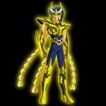 Ikki com a armadura dourada de Fênix