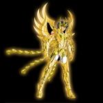 Ikki com a armadura divina de Fênix