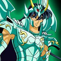 Shiryu com a armadura divina de Dragão